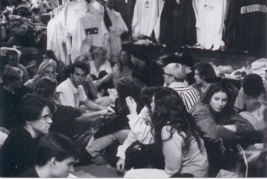 1992 Sit-in at General Store Coop Against Eviction