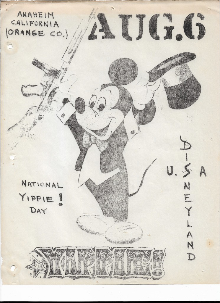 National YIPPIE! Day at Disneyland, Aug 6 leaflet